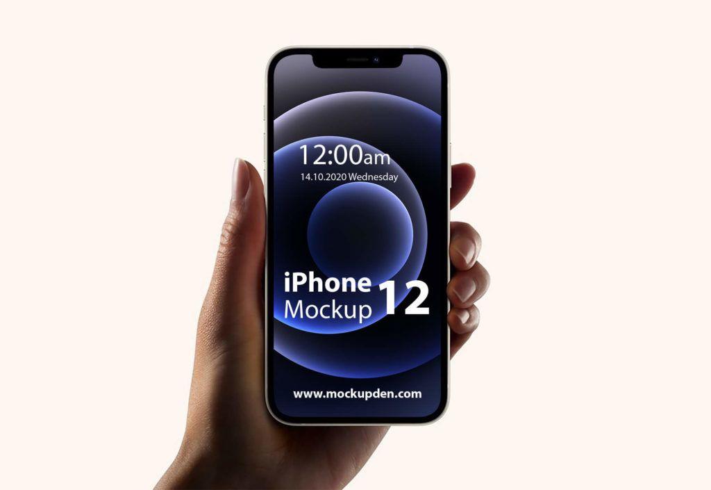 Free Hand Holding Iphone 12 Mockup Iphone Mockup Mockup Mockup Psd