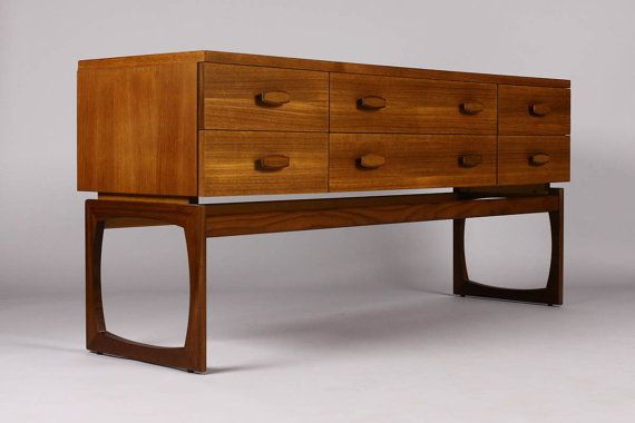 Best Danish Modern Mid Century Vintage Teak 6 Drawer Low 640 x 480