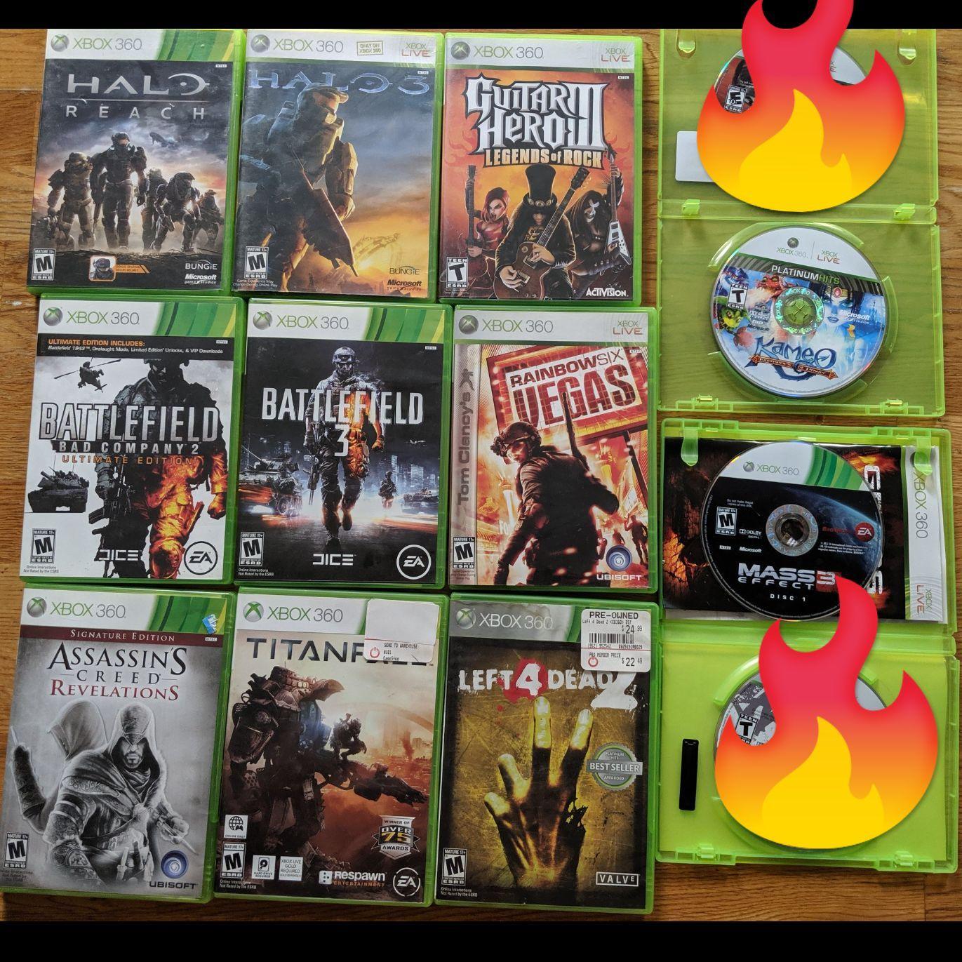 11 Games In Total Halo Reach Halo 3 Guitar Hero 3 Kameo Mass