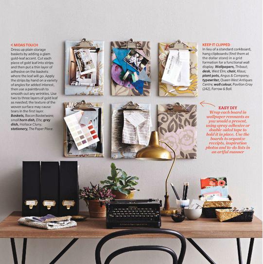 Desk idea using clip boards @Michelle Flynn Flynn Flynn Flynn Flynn Brinckerhoff