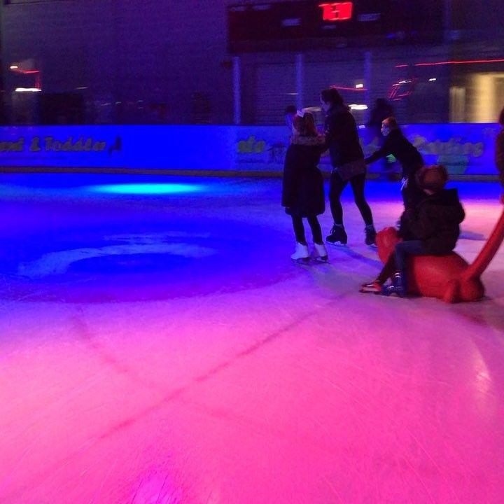 Yeeee haaa! #ride #iceskating #push #nanny #grandchildren