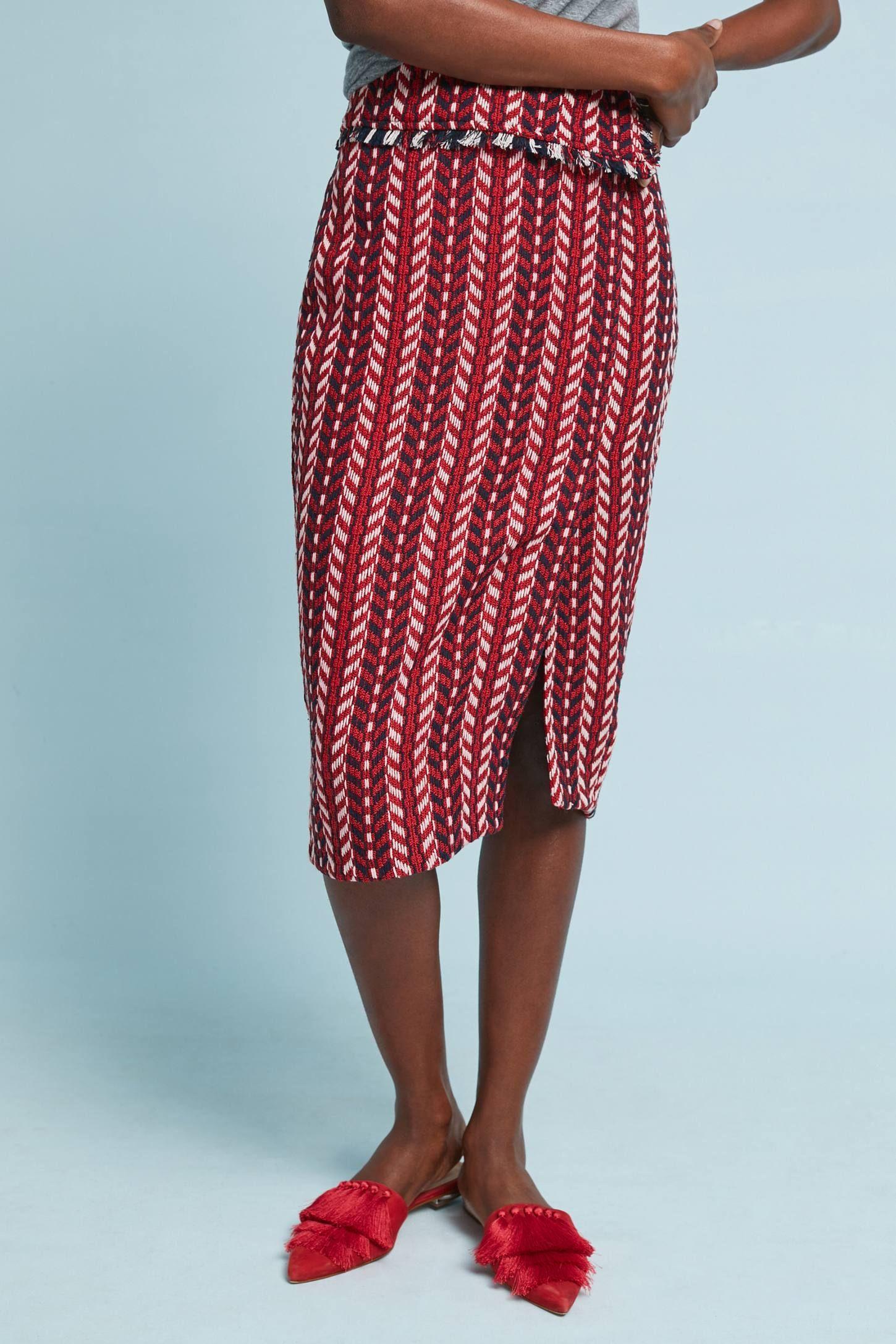 ba0cbafbb271 Tweed Foldover Pencil Skirt | My Clothes | Pinterest | Pencil skirts ...