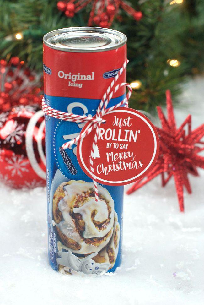 Punny Neighbor Gift Idea: Cinnamon Rolls
