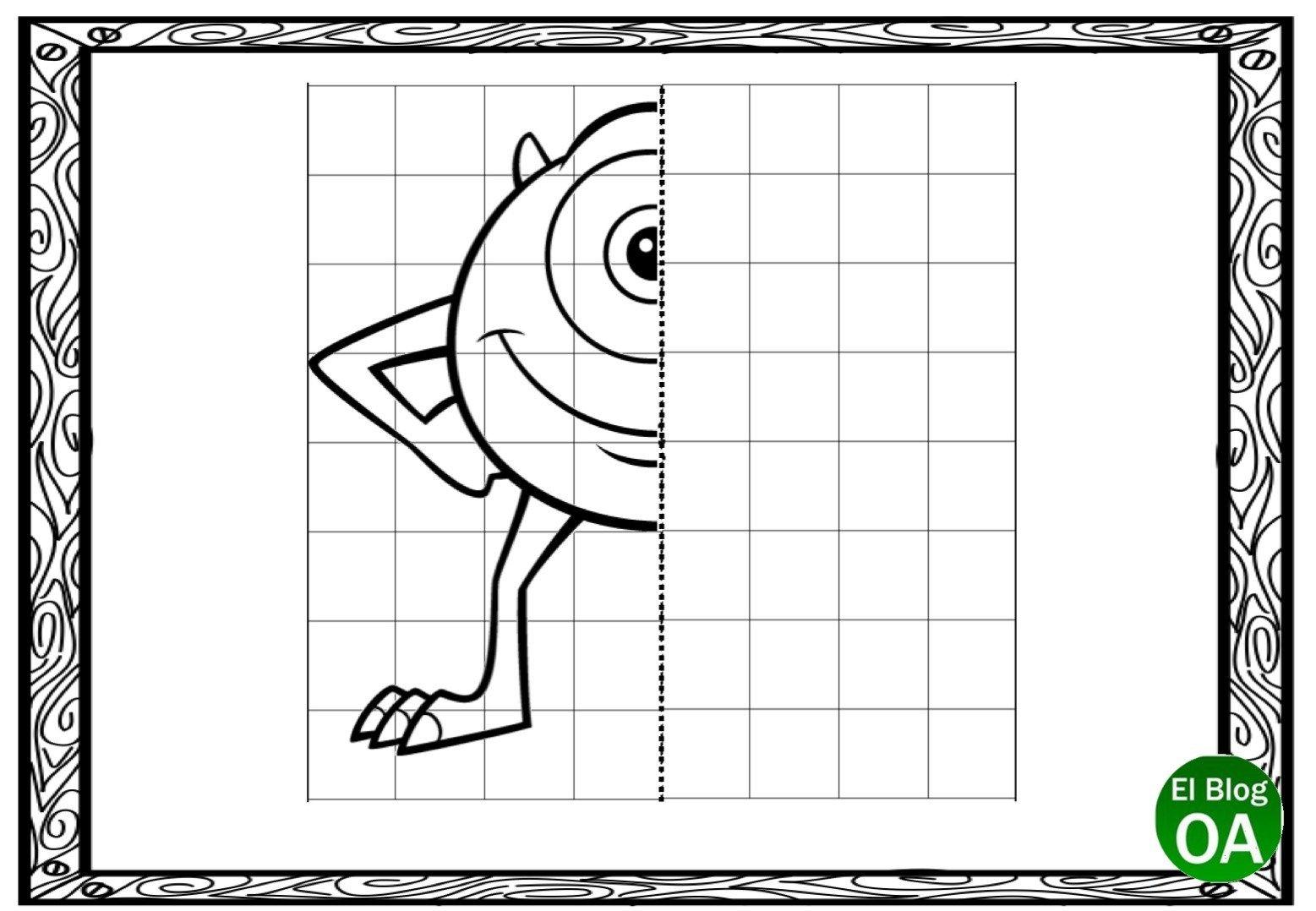 Trabajamos La Lateralidad Con Estas Fichas De Dibujar Simetricos En Cuadricula Orientacion Andujar Dibujos En Cuadricula Fichas Cuadricula