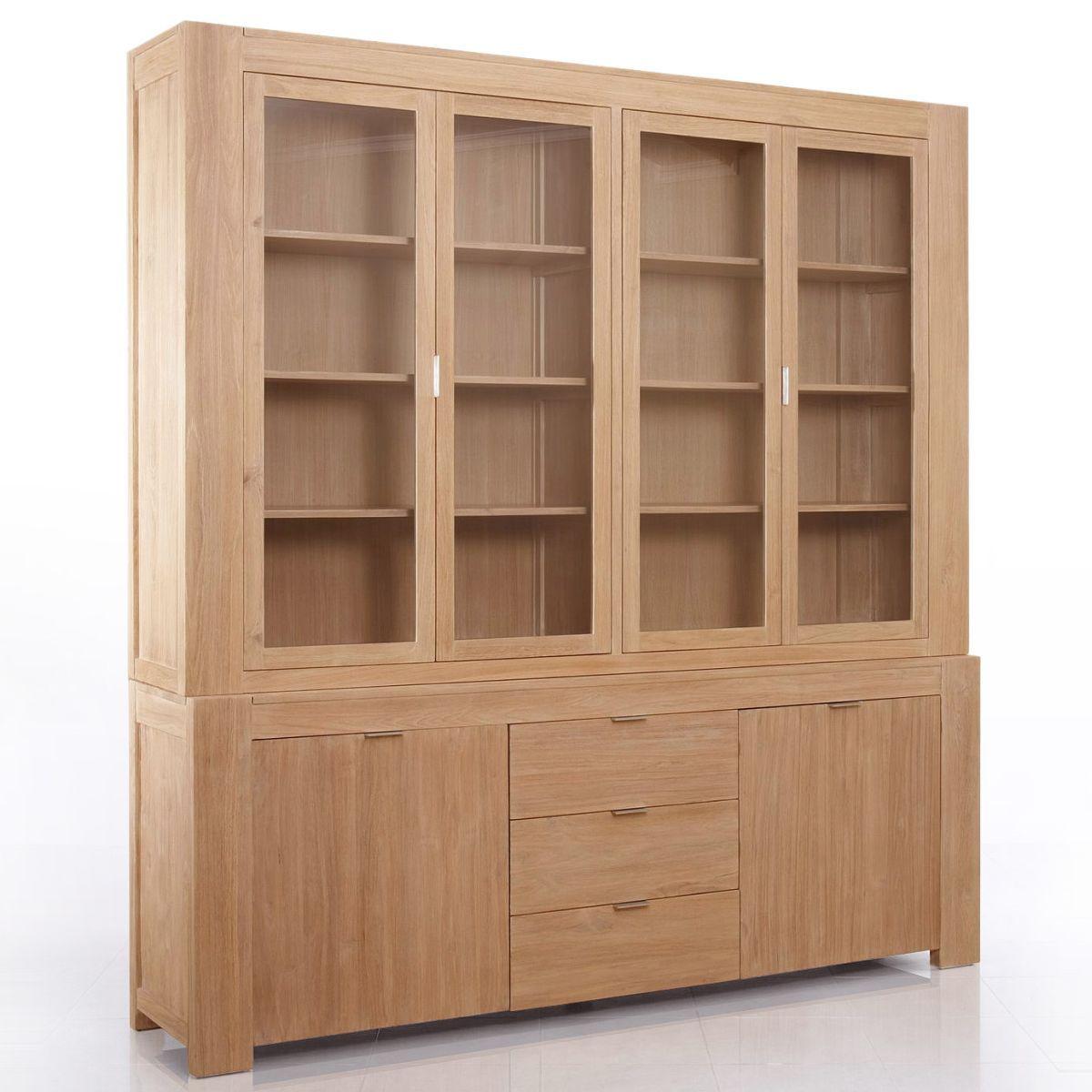Great Teak modern display cabinet