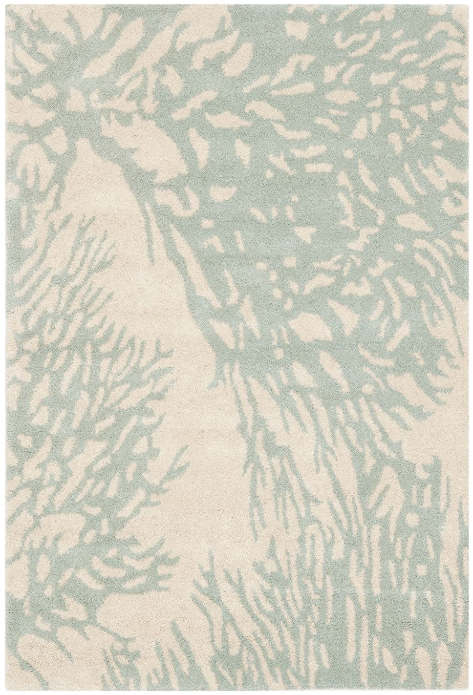 Rudolph Floral Tufted Wool Beige Blue Area Rug Area Rugs