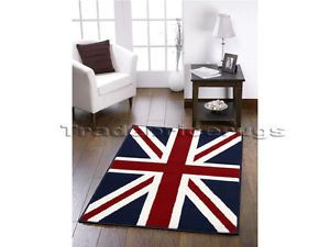 Details About Large Union Jack Rug Traditional Red