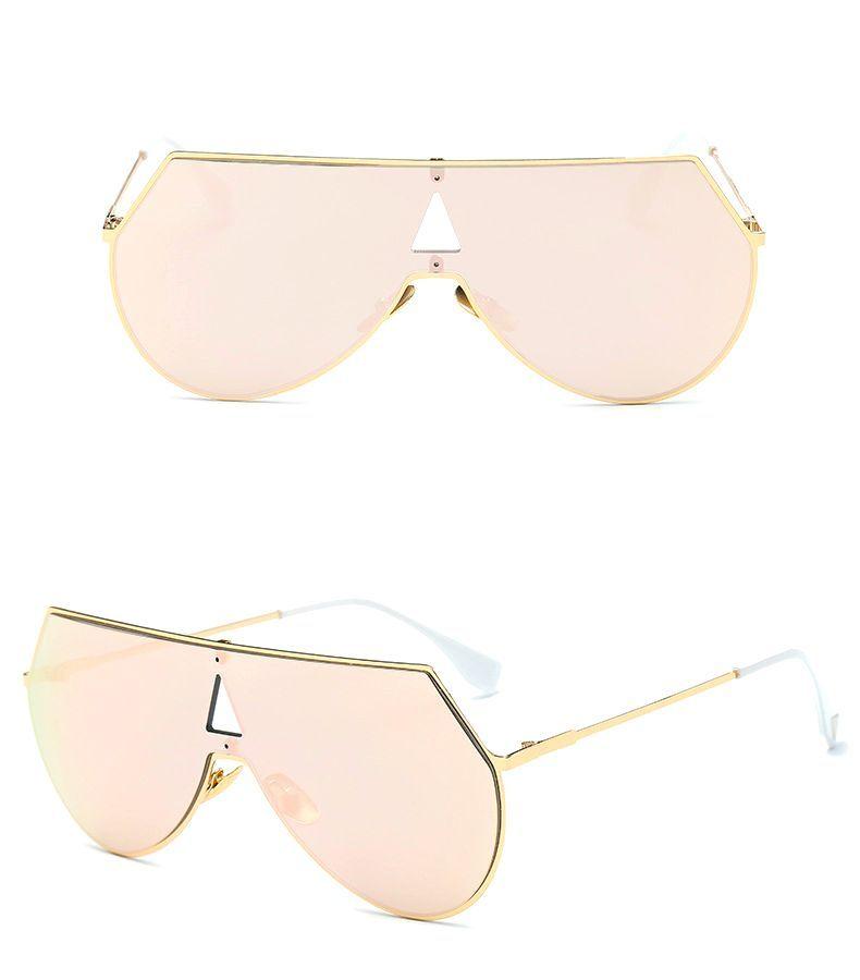 Sophisticated Full Coverage Angular Aviator Sunglasses