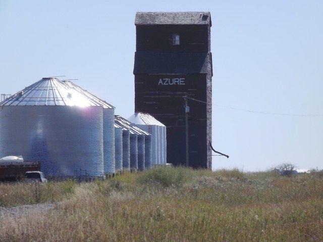Azure grain elevator