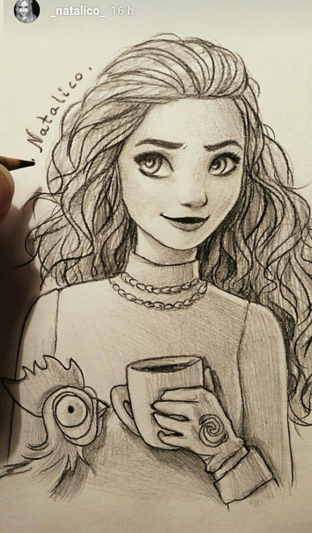 Moana Natalico Ig In Love With Draw Drawings Art Sketches