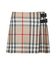 New Classic Check Wool Kilt by Burberry Brit