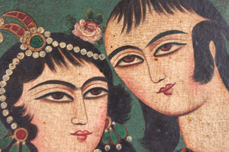 Two Qajar Paintings, Persia, 19th century