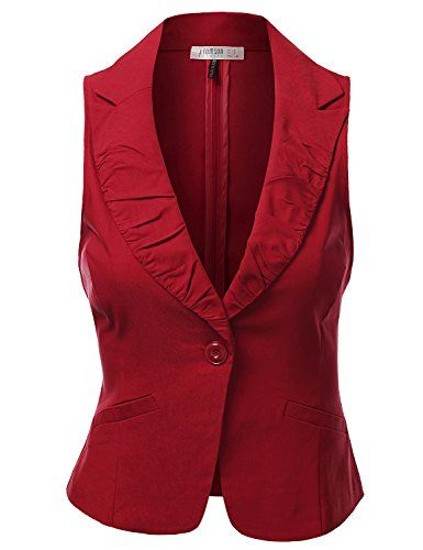 a0175a96fd9c Pin by Katherine Peringer on Sewing | Vest, Red vest, Vest jacket