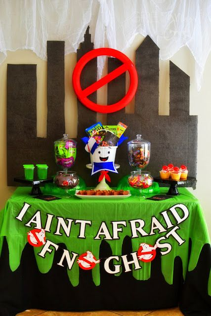 BOO It Forward Ghostbusters Party with Mars and Wrigley - halloween decorations at walmart