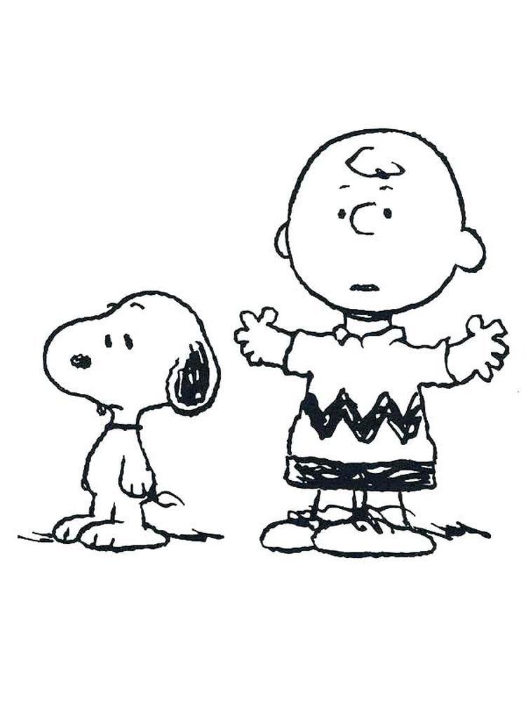 Charlie Brown Valentine Coloring Pages Printable In 2020 Snoopy