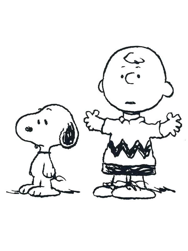Charlie Brown Valentine Coloring Pages Printable In 2020 Snoopy