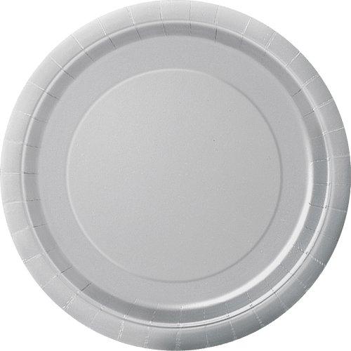 Unique Industries Cake Paper Plates 20 Pieces Silver Paper Plates Party Paper Plates Plates