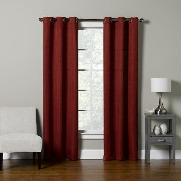The Big One 2 Pack Solid Curtain 50 Liked On Polyvore