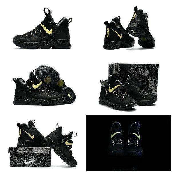 save off 125dd 6efca Latest LBJ Sneakers Cheap Size US 7 7.5 9 10.5 13 LeBron 14 XIV Black Gold