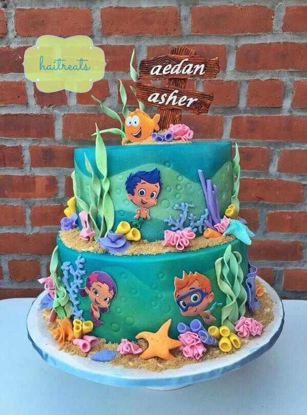 Surprising Bubble Guppies Cake Bubble Guppies Birthday Party Bubble Birthday Cards Printable Trancafe Filternl