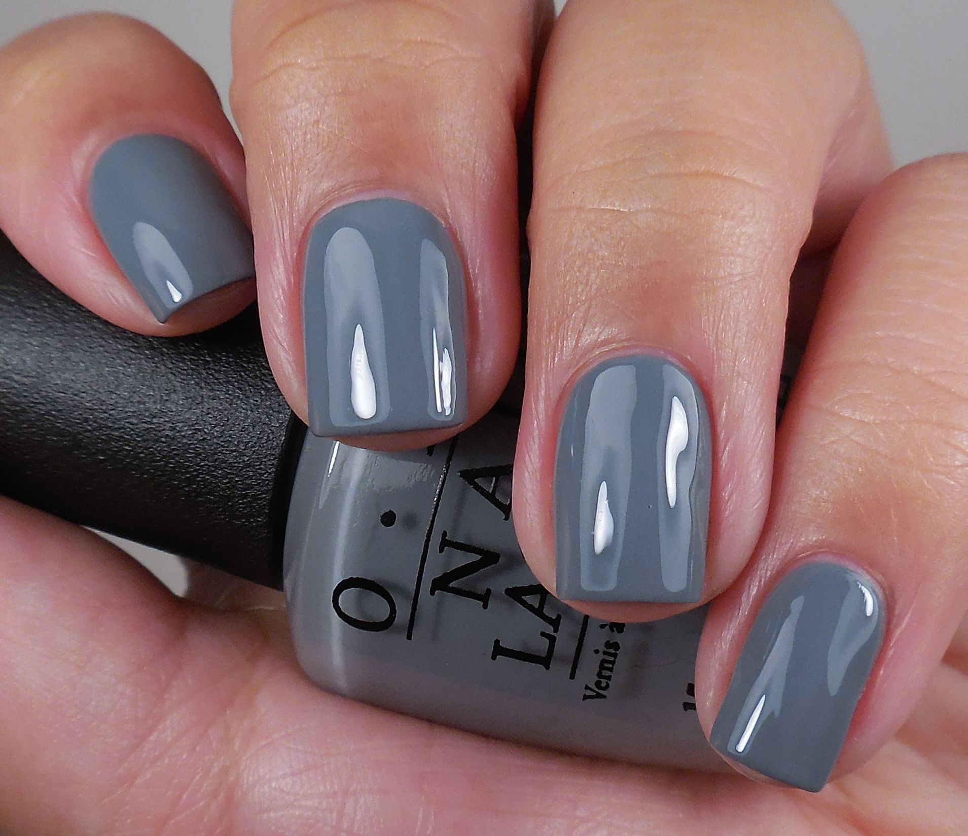 OPI - Embrace the Grey - current mani color - 2.3.2015 <3 it. | My ...