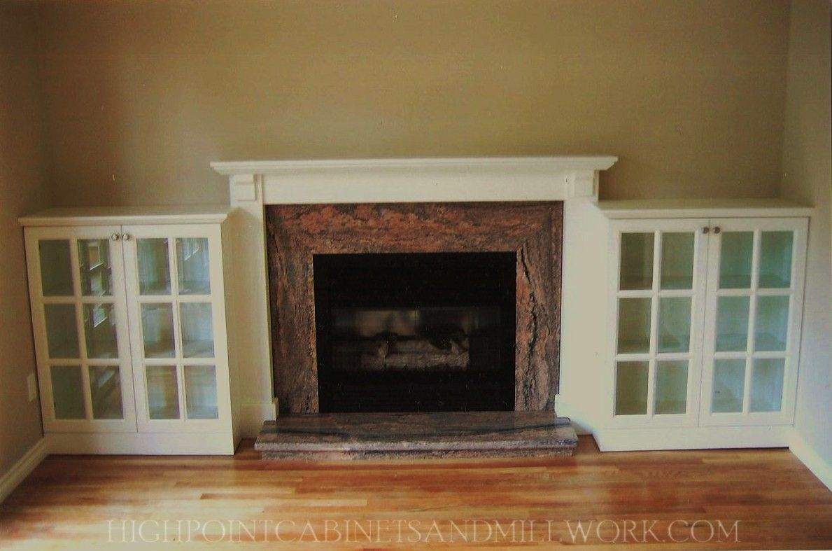 mantle ideas with bookshelve | Fireplace Built in Bookshelves ...