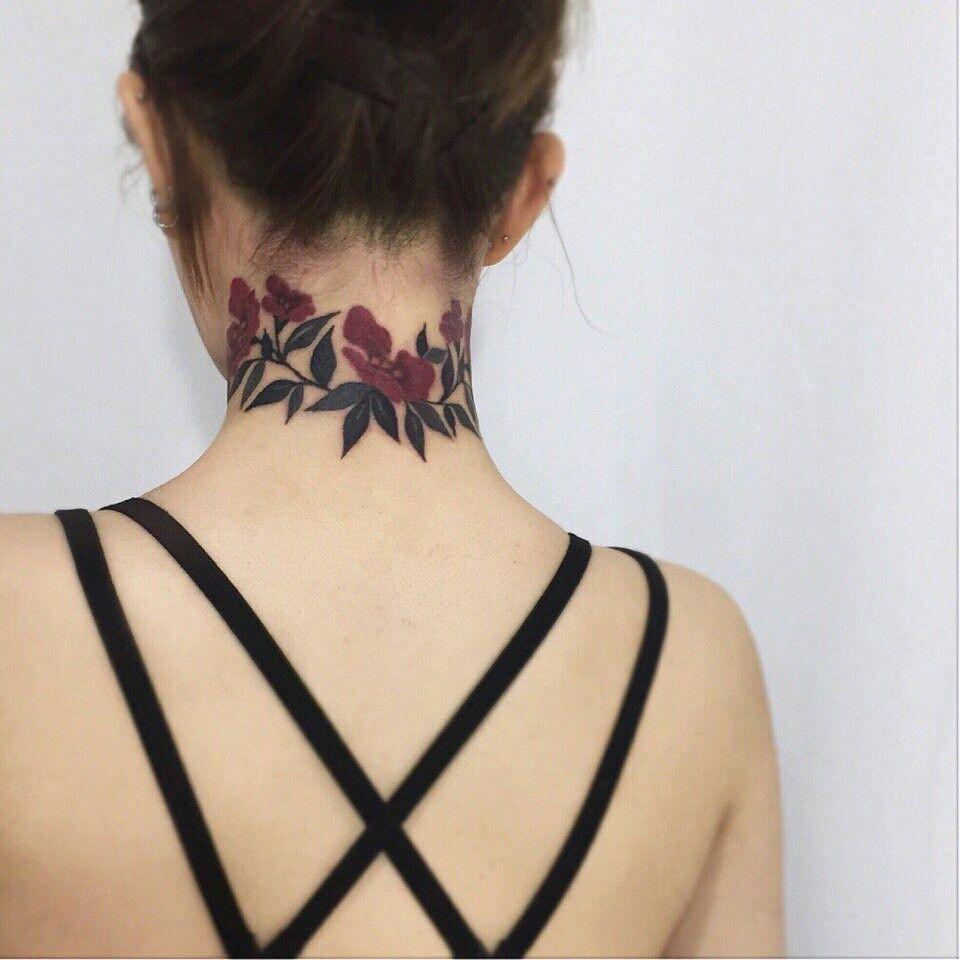 Flower Tatt Best Neck Tattoos Neck Tattoo Neck Tattoos Women
