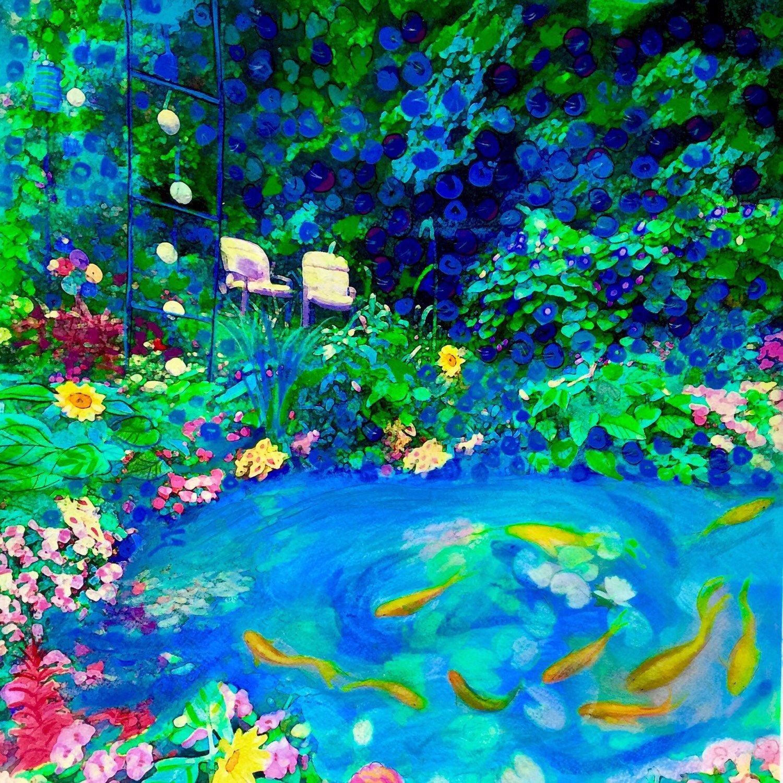 Colorful summer gardens wall art art by gina signore gina