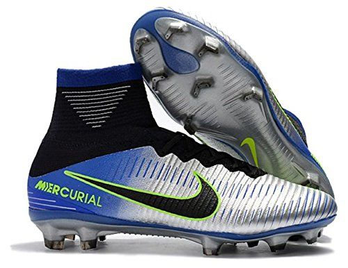 info for c6ef6 b2208 ALDO Men s High Ankle Soccer Cleats Mercurial Superfly V Neymar FG Black  Blue Grey