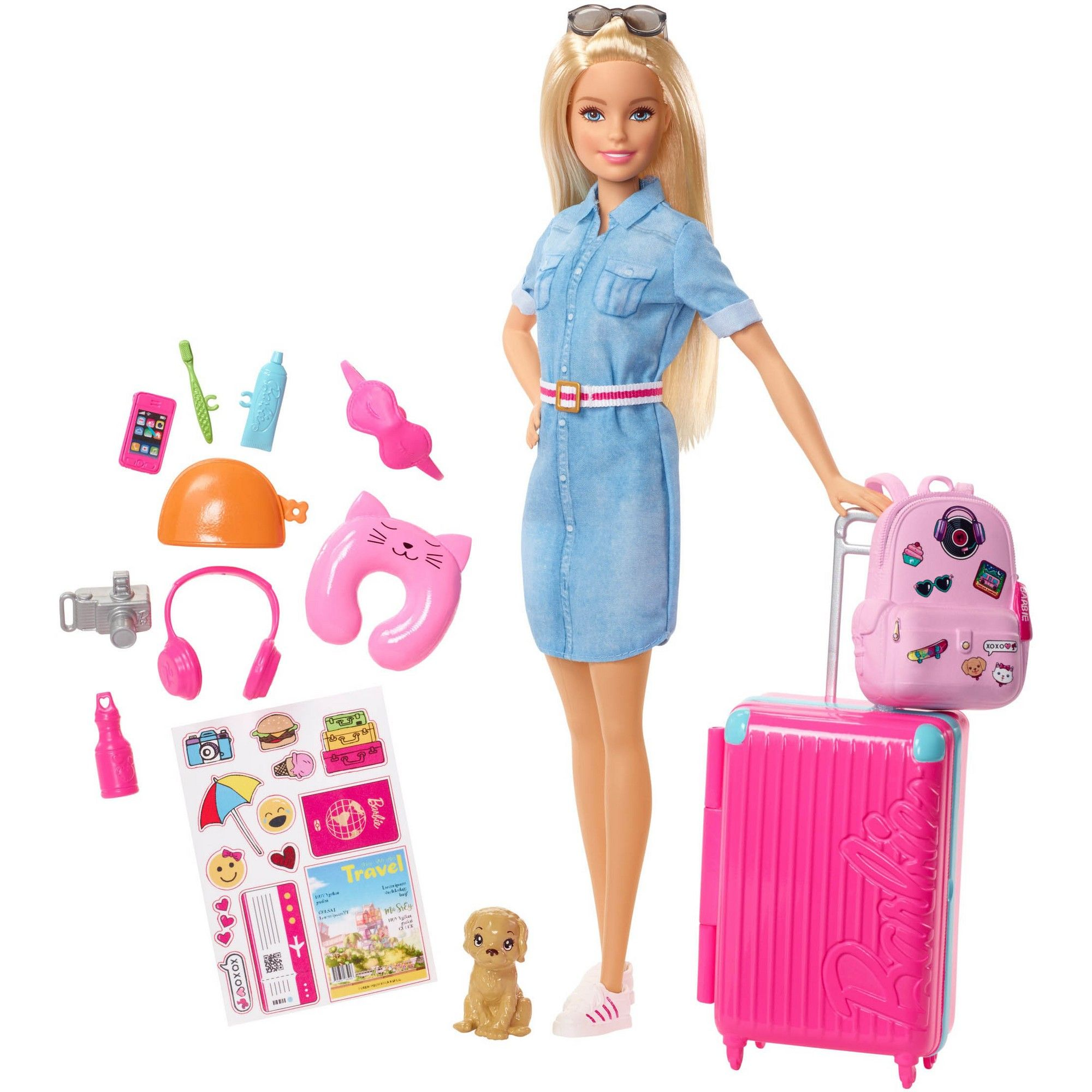 e763581b0a423 Barbie Travel Doll & Puppy Playset | Products | Barbie, Barbie doll ...