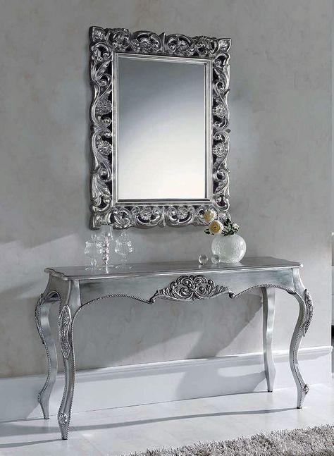 Recibidores recibidor marcos y espejo for Espejos para consolas