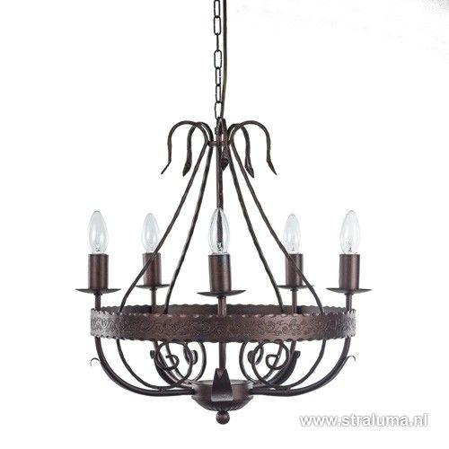 Klassieke hanglamp- kroonluchter bruin - www.straluma.nl ...