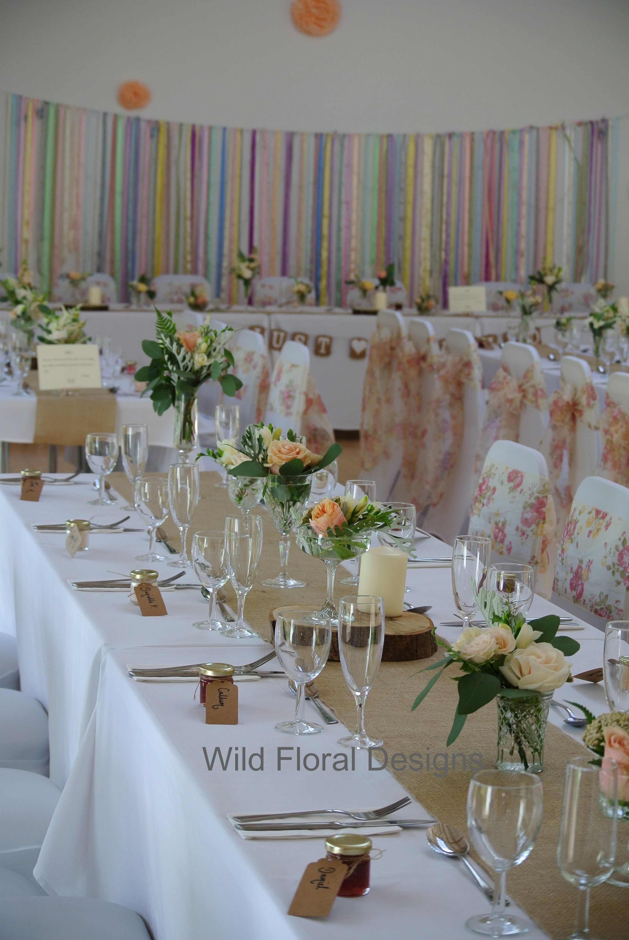 wedding chair covers devon teen girl chairs stokeinteignhead village hall sashes hessian table runners and floral