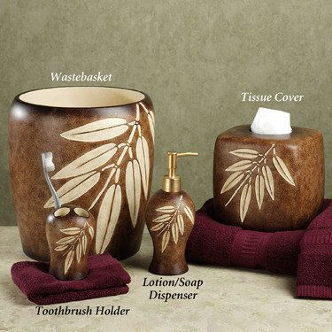 Bamboo Leaf Bath Accessories Tropical