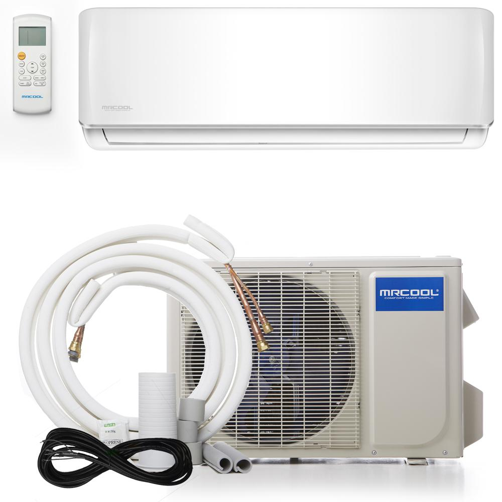 Mrcool Advantage 12 000 Btu 1 Ton Ductless Mini Split Air Conditioner And Heat Pump 230v 60 Hz White Heat Pump Heat Pump System Ductless Heat Pump