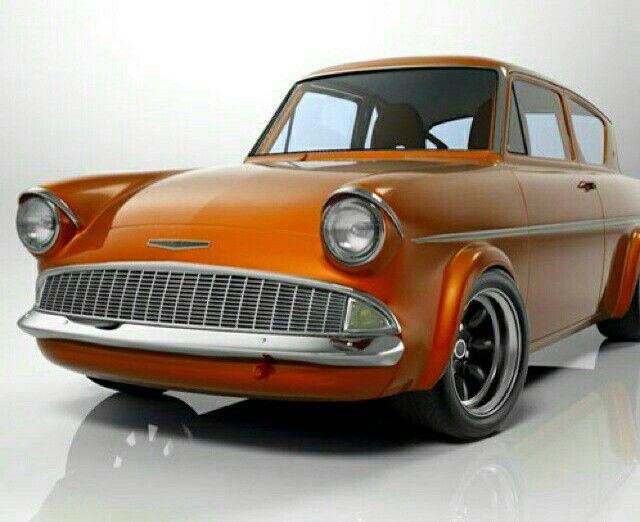 Burnt Orange Ford Anglia Ford Anglia Classic Cars Ford Classic
