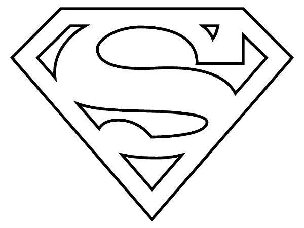 Superman Logo Coloring Page coloring Pinterest Superman logo