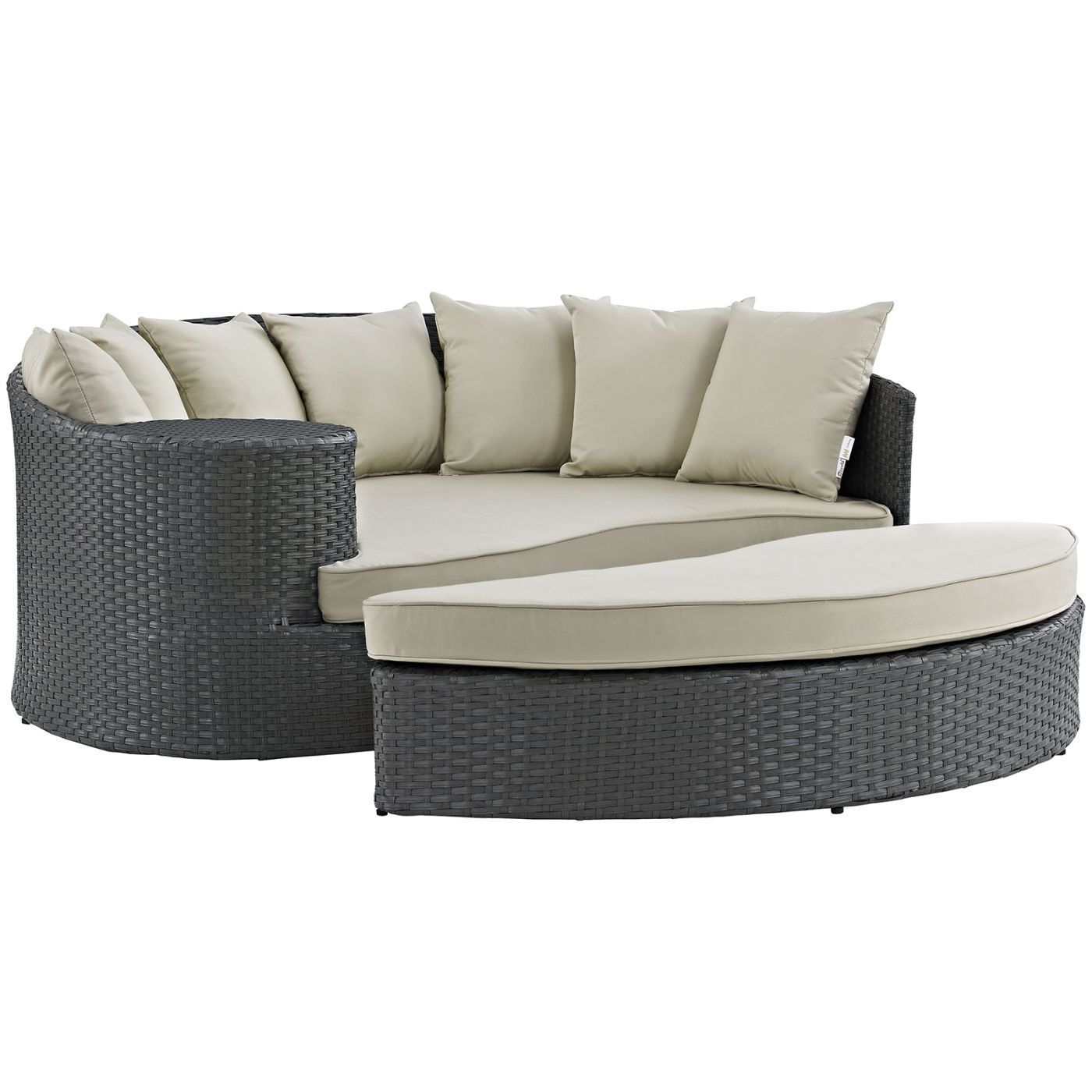 Sojourn Outdoor Patio Rattan Sunbrella Daybed Products Pinterest