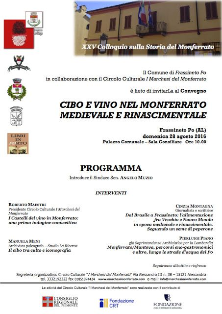 MedioEvo Weblog: Cibo e vino nel Monferrato medievale e rinascimentale
