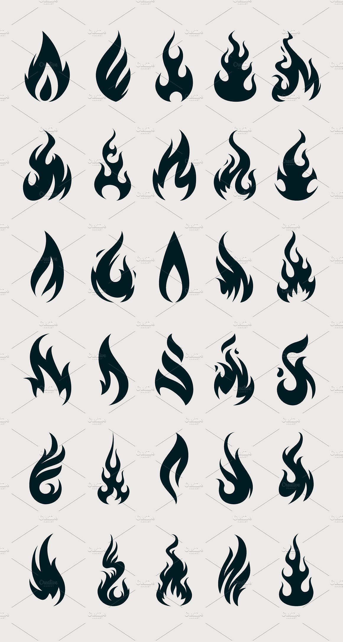 Vector Fire Icons Fire icons, Flame tattoos, Flame art