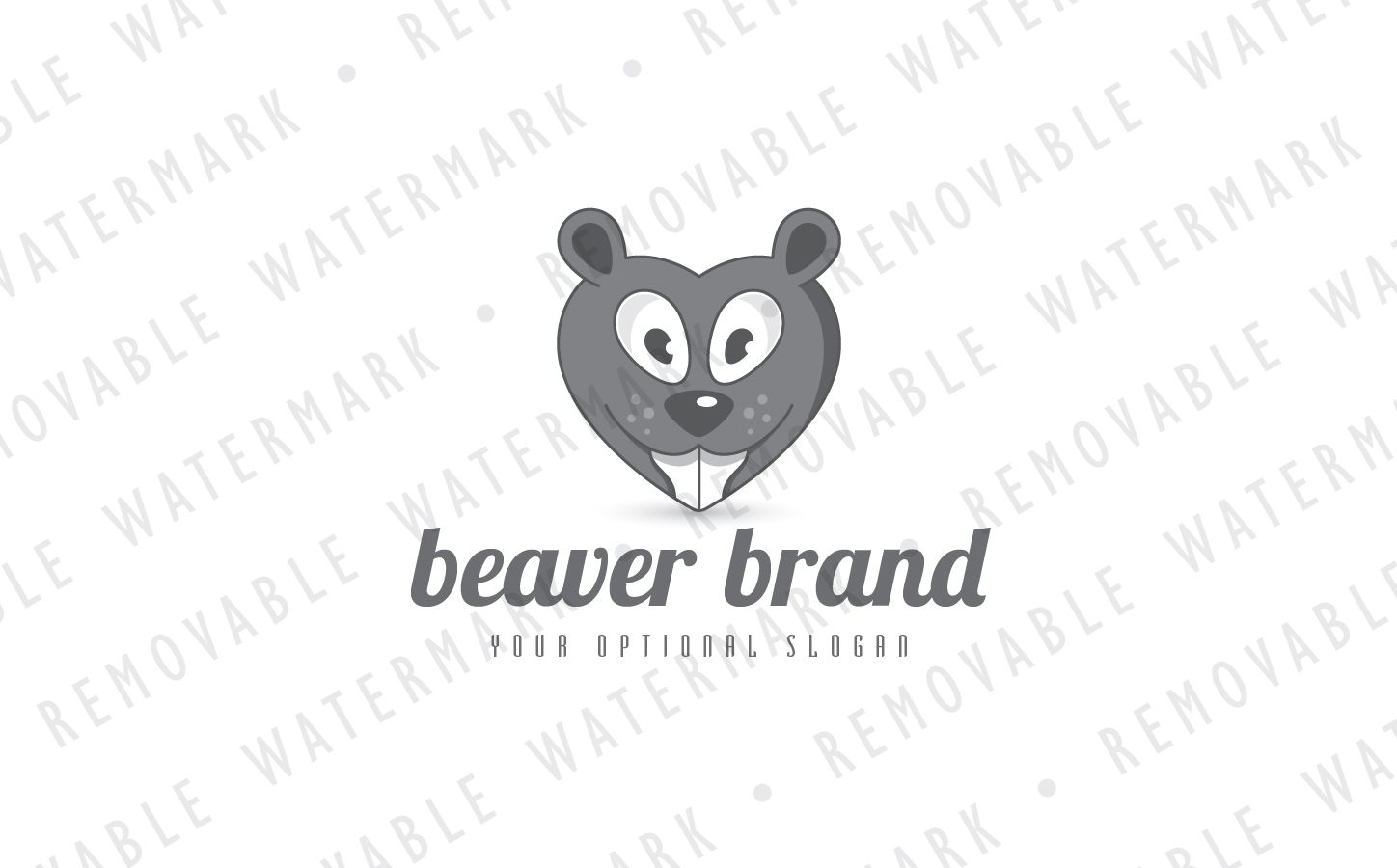 Beaver Love Logo Template Retail Logo Wall Pinterest Logo