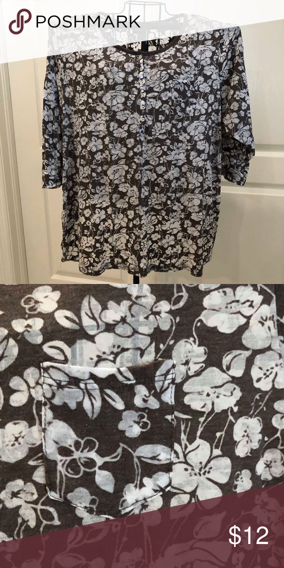 bdaaa9c63a42 Avenue summer shirt 3 4 sleeve - see thru fabric - lightweight. buttons  halfway down front and small front pocket 52% cotton 48% polyester. like  new - worn ...