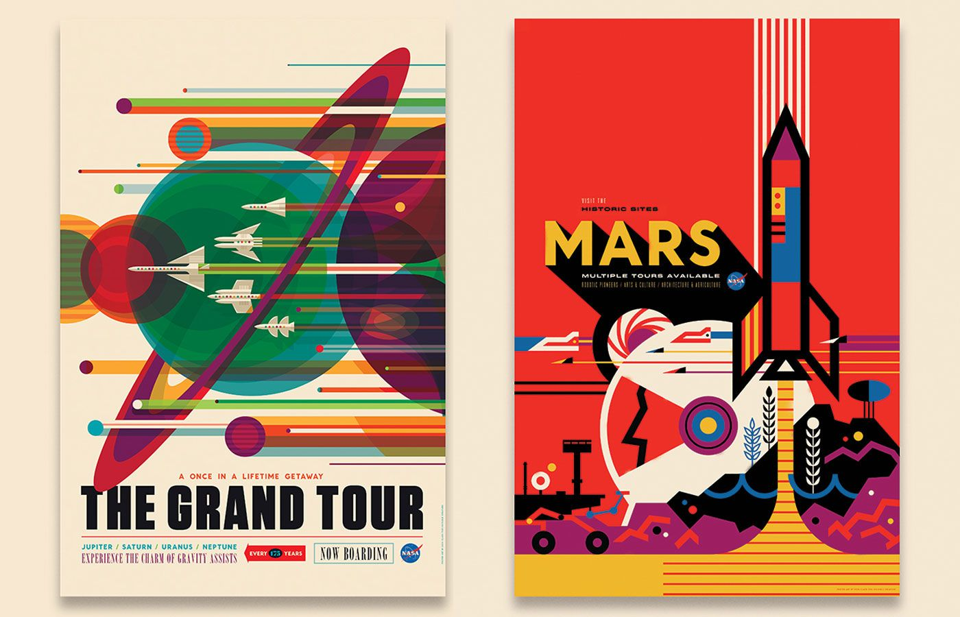 Make a poster design - Nasa S Space Tourism Posters Will Make You Want To Suit Up