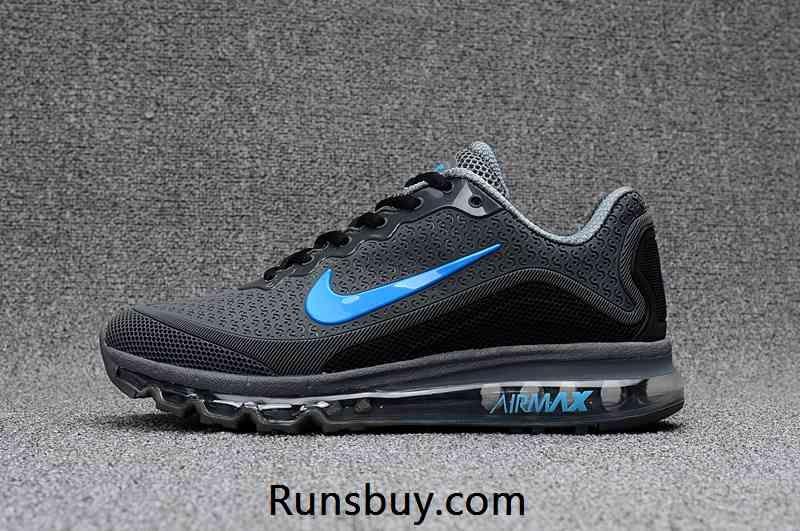 New Nike Air Max 2017 8 KPU Cool Carbon Grey Blue Tick