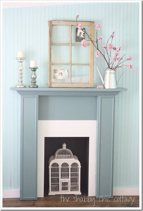 How To Decorate Series Day 17 Using Objects As Art By The Shabby Chic Cottage With Images Faux Fireplace Diy Shabby Chic Fireplace Diy Fireplace Mantel