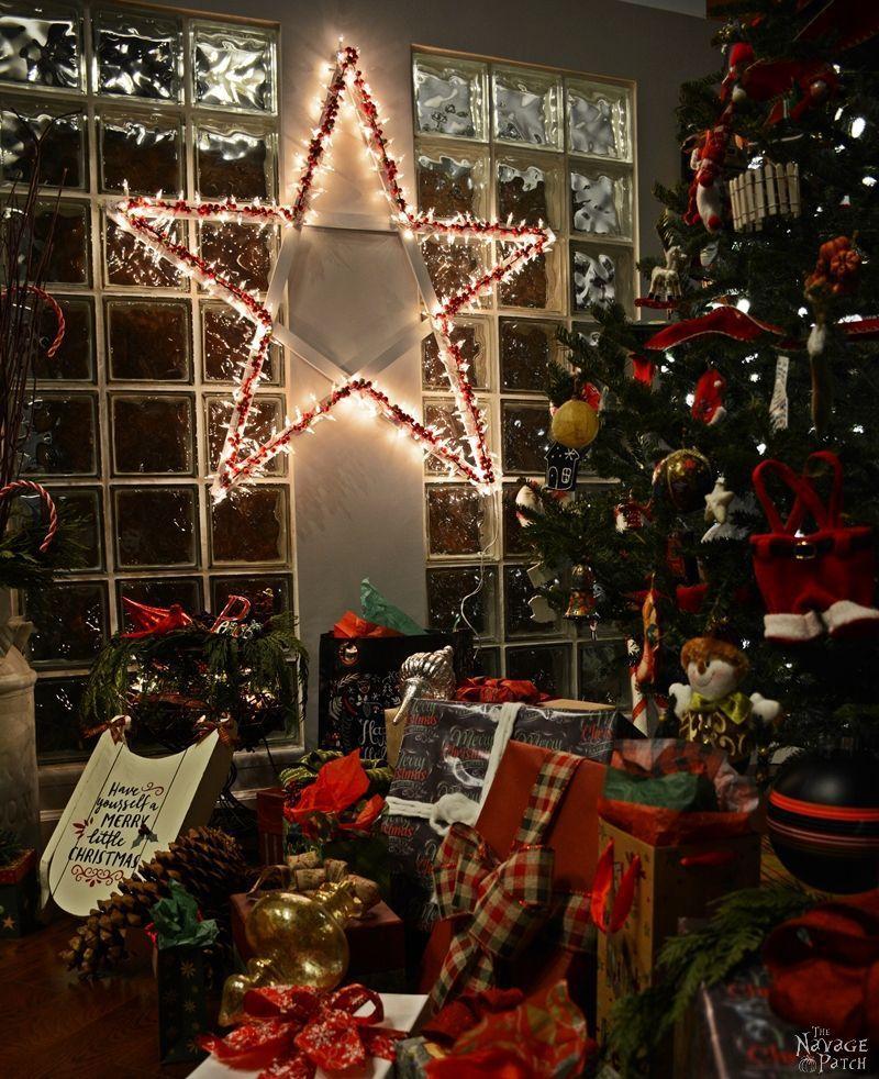 diy lighted christmas stars