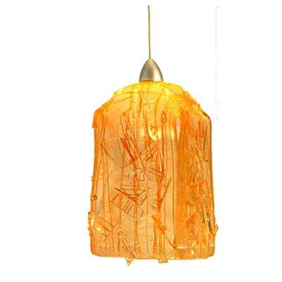 Meyda Tiffany Metro Fusion Taffy D 1 Light Mini Pendant Shade Color Orange