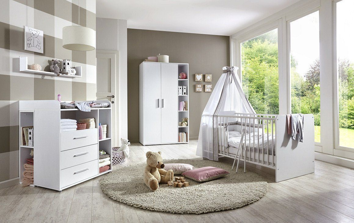 Babyzimmer Kinderzimmer Komplett Set Kim 2 In Weiß