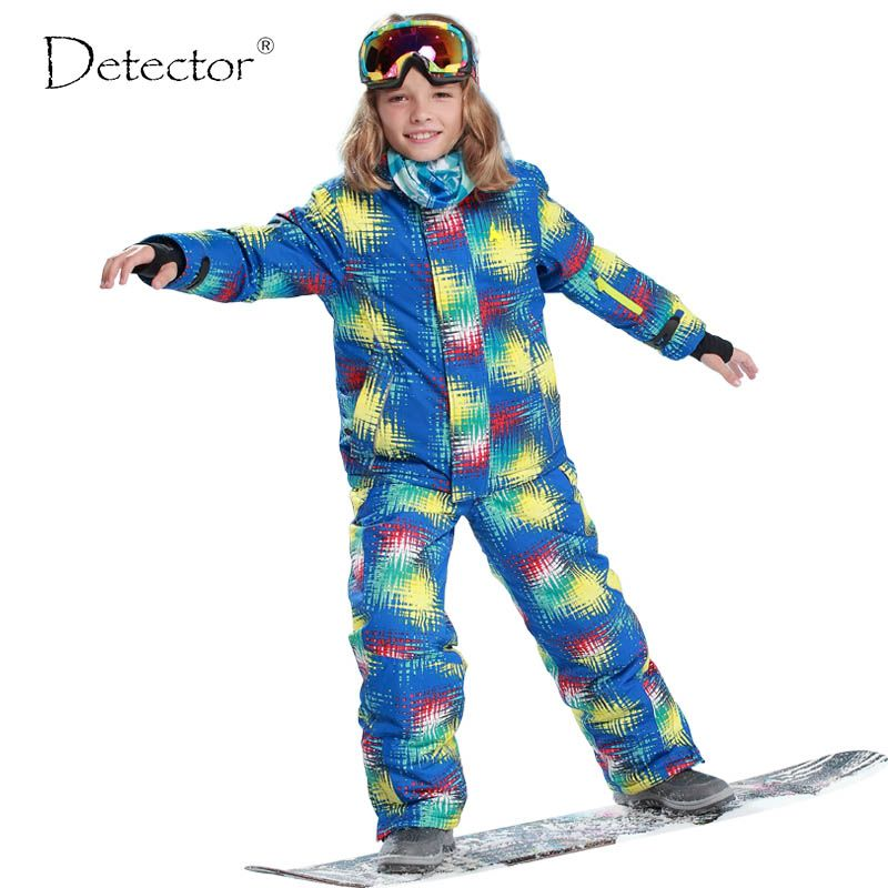 a025ad5f8f Winter Outdoor Children Clothing Set Windproof Ski Jackets + Pants Kids  Snow Sets Warm Skiing Suit For Boys Girls