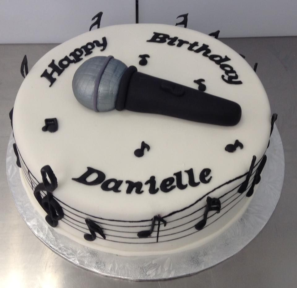 Admirable Music Singing Themed Birthday Cake Decorated By Coast Cakes Ltd Personalised Birthday Cards Paralily Jamesorg